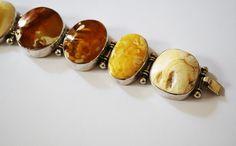 Vintage Natural Baltic Amber Bracelet 83 g
