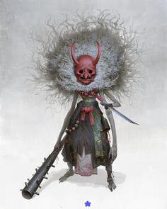 Fantasy Kunst, Dark Fantasy Art, Dark Evil, Samurai Artwork, Horror Artwork, Arte Obscura, Monster Design, Fantasy Warrior, Creature Design