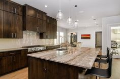 Purdue Custom Home - transitional - Kitchen - Dallas - Hatfield Builders & Remodelers