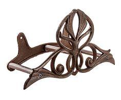 Soporte para mangueras en hierro colado Floral