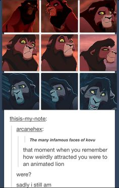 I honestly think we can all admit it. And not only for lions, but for animated people too.