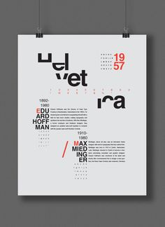 Helvetica Compelling use of the missing parts of each letter. Colors look stellar