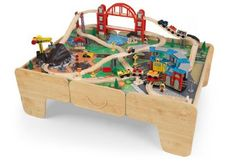 Kidkraft Limited Edition Roundhouse Train Set u0026 Table w/ 2 Drawers u0026 Sounds. Read  sc 1 st  Pinterest & wooden train table with drawer | Wooden Train Set Tables | Pinterest ...
