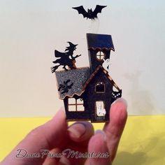 Haunted Dollhouse Kit   Unique HAUNTED HOUSE Miniature KIT - Spooky Halloween Dollhouse ...