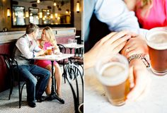 Brooklyn engagement photos in a cafe, Mandy Mayberry Photography