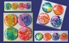 polymer clay cabochons made from my tutorial