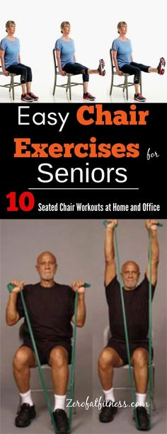Simple Chair Exercises for Seniors- 10 Seated Chair Workouts at Home and Office. Now save yourself the trip to the gym, start doing these simple chair exercises for the elderly at home or at work. Lose weight, strengthen your core muscle, and stay healthy Chair Exercises For Abs, Yoga Exercises, Fitness Exercises, Weight Exercises, Drawing Exercises, Stretching Exercises For Seniors, Leg Strengthening Exercises, Morning Exercises, Stomach Exercises