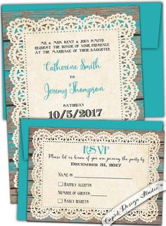Rustic wedding invitation/Country wedding by CupidDesigns on Etsy