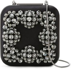 These bags, though. Shop purses for women and find the Saint Laurent Sac du Jour, Gucci's GG Marmont and Balenciaga Souvenir belt bag to name but a few. Black Buffet, Clutches For Women, Designer Clutch, Manolo Blahnik, Evening Bags, Bag Making, Clutch Bag, Purses And Bags, Swarovski Crystals