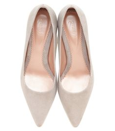 4103fc4c1b7 An elegant pointed occasion court shoe in a soft grey kid suede. This style  is
