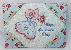 Sunbonnet Mug Rug - 5x7 | What's New | Machine Embroidery Designs | SWAKembroidery.com Oma's Place
