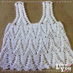 Musculosa calada en crochet de hilo de algodón con seda. Divina!!!
