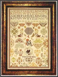 """""""Forgiveness"""" is the title of this cross stitch pattern from Examplar Dames Design Company that is stitched with NPI Silks (186,207,313,316,..."""