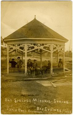 """Cooper Postcard Collection  """"Bay Springs, Mineral Spring, Bay Springs, Miss."""""""