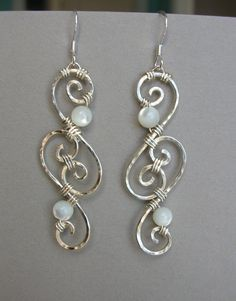 silver wire earrings by ~arianhwyvar on deviantART