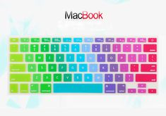 Rainbow Design Keyboard Cover Keypad Skin For MacBook Air White Pro 13 Macbook Air 11, Macbook Pro, Keyboard Cover, Computer Keyboard, Rainbow, Electronics, Ebay, Design, Rain Bow