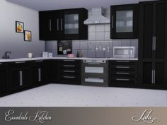 The Sims Resource: Essentials Kitchen by Lulu265 • Sims 4 Downloads