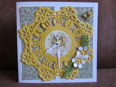 Sylvia's Fun Card Marianne Design, Cool Cards, Birthday Cards, Clocks, Frame, Watches, Fun, Card Ideas, Home Decor