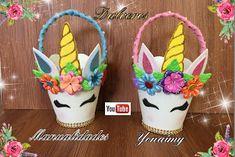 MANUALIDADES YONAIMY Unicorn Birthday Parties, Unicorn Party, Birthday Party Decorations, Art For Kids, Crafts For Kids, Unicorn Headband, Baby Boy Shower, Handicraft, Roxy