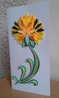 Quilled card. Greeting card. Quilling Card. Handmade. 3d Handmade card. Quilled flowers. Quilled postcard. Quilling patterns. Birthday card