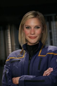 Star Trek fan fiction character Deborah Haddon (Katee Sackoff) was a Security crewman who switched to the MACOs and, eventually, rose to the rank of Major.