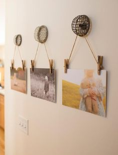 Decorate your home with photos and vintage treasures in these adorably cute photo displays.