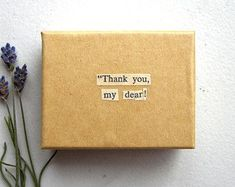 Thank You My Dear Small Kraft Box - Vintage Book Page Art / Bookish Home Decor, Jane Eyre Literary Trinket Holder, Decoupage Gift Box Book Page Art, Book Pages, Create Yourself, Finding Yourself, Kraft Boxes, Gifts For Readers, Jane Eyre, Trinket Boxes, Wooden Boxes