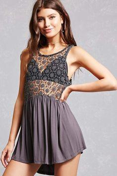 503181415af8af Forever 21 Crochet Lace-Up Tank Top Lace Up Tank Top