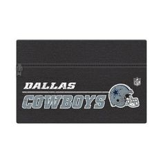 NFL Dallas Cowboys Zippered Cotton Canvas Pencil Pouch, 7.5 inch by 4.625 inch
