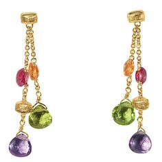 Marco Bicego Gold and Mixed Stone Earrings | Johannes Hunter Jewelers