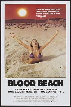 BLOOD BEACH #horror #exploitation #poster
