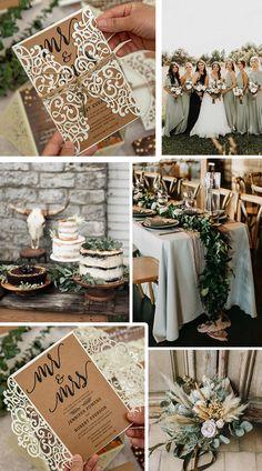 Wedding Menu Cards, Laser Cut Wedding Invitations, Wedding Invitation Sets, Wedding Themes, Wedding Decorations, Sage Wedding, Diy Wedding, Rustic Wedding, Dream Wedding