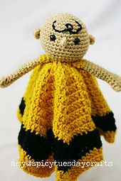 Chuck Blanket Buddy pattern by Amy McC Anderson Lovey Blanket, Blanket Sizes, Crochet Toys, Crochet Baby, Hello To Myself, Security Blanket, Charlie Brown, Knitted Hats, Grief