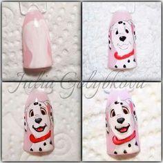 #nailart #tutorial Love Nails, Pretty Nails, Animal Nail Art, Cute Nail Art Designs, Disney Nails, Nail Tutorials, Nailart, Christmas, Movies