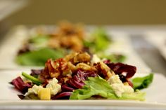 Pear, Goat Cheese and Caramelized Walnut Salad