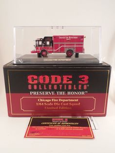 Code 3 Preserve the Honor Chicago Fire Department 1/64 Scale Die Cast Squad 5 #Code3Collectibles