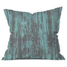 DENY Designs Mary Beth Freet Haute Home Woodgrain Outdoor Throw Pillow