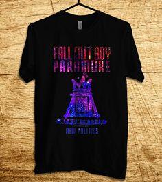 fall out boy paramore T Shirt, Men T Shirt, Clothing, T Shirt, Shirt, All Color Available