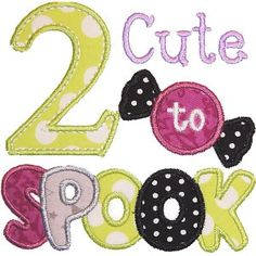 2 Cute to SPOOK..Onesie by LadybugCreations74 on Etsy
