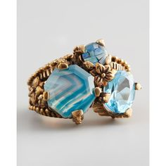 Stephen Dweck Multi-Stone Mosaic Ring ($295) ❤ liked on Polyvore