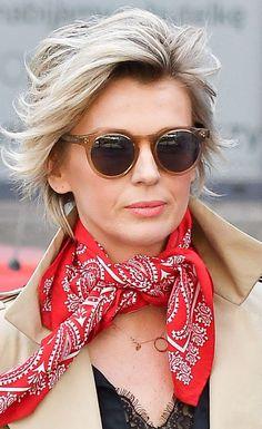 #TRENDY: Magda Mołek w beżowym płaszczu - PUDELEK