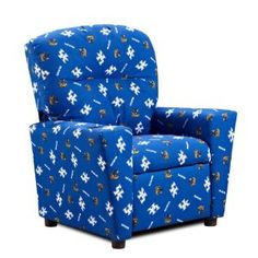 Kentucky Wildcats Kid's Recliner. Pull up a seat. This Kentucky Wildcats recliner will make a fan-friendly addition to your child's bedroom or game room. In blue.