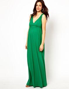 ASOS Maternity | ASOS Maternity Exclusive Maxi Dress with Grecian Drape at ASOS