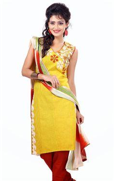 Picture of Fascinating Yellow Designer Salwar Kameez