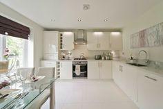 Image from the development Durham Gate, Thinford. Kitchen Room Design, Kitchen Interior, Kitchen Dining, Kitchen Cabinets, Kitchen Ideas, L Shaped Kitchen, Open Plan Living, Apartment Design, Home Kitchens