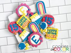 Love the addition of royal blue to this color scheme! My Sister In Law, 15th Birthday, Birthday Cookies, Royal Blue, Color Schemes, Photo And Video, Instagram, Sweet 15, Colour Schemes