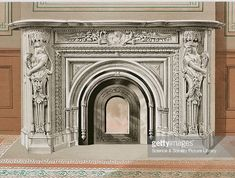 World's Fair of 1876 : Canadian fireplace, illustrated in Charles Norton, Treasures of Art, Industry and Manufacture, Art Industry, Ancient Greek Words, Exhibition Building, Fire Surround, Architectural Antiques, World's Fair, French Artists, Art Museum, Barcelona Cathedral