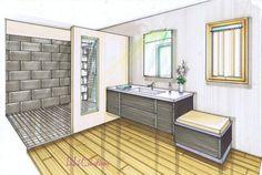 """Résultat de recherche d'images pour """"croquis salle de bain perspective"""""""