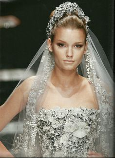 Elie Saab bridal - a great tiara look.