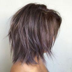 • D U S T Y M A U V E M E L T • by yours truly @jamiekeikohair || Modern Shag haircut design by @richiemiao